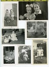 (26) Vintage photo lot / DOLLS - Toy Prams Clothes Voodoo OLD SNAPSHOTS 1920-65