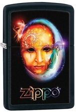 Zippo 28669 venetian mask black matte finish full size Lighter