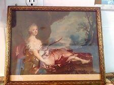 Antique Italian Lito/Print- Diana by Nattier- Galleria Pitti  Firenze-Water Seal