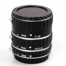 Macro Auto Focus AF Automatic Extension Tube Set for Kenko Canon EF EF-S Metal
