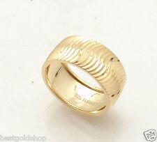 Size 7 Technibond Wavy Textured Ring 14K Yellow Gold Clad 925 Sterling Silver