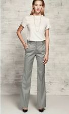 NEW ZARA LADIES GREY STRAIGHT  SMART TALL WORK TROUSERS LONG X LARGE 14/16 Z170
