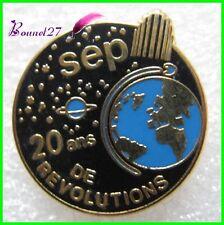 Pin's SEP 20 ans de revolution navette spatiale fusée moteur réacteur Decat #H2