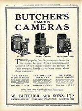 Butcher`s Famous Kameras W. Butcher & Sons London Camera House Klappkameras 1920