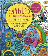 Tangled Color and Draw: Tangled Treasures Coloring Book : 50 Intricate Tangle