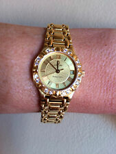 Ladies 18k Yellow Gold Diamond Bezel Concord Saratoga Depose Date Watch