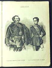 1859:Guerre d'Italie,V.EMANUELE RE DI SARDEGNA e S.A.R.UMBERTO PRINC.DI PIEMONTE