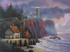 Harbor Light Hideaway by Michael Humphries Seaside Lighthouse Print