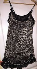 NWT In Bloom by Jonquil Women's Cheetah Print Stretch Lace Babydoll Nightgown