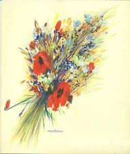 BELLE GOUACHE ORIGINALE signée par l'affichiste Gaston GIRBAL à ANDREX