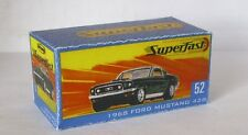 Repro Box Matchbox Superfast Nr.52 1968 Ford Mustang neue Box