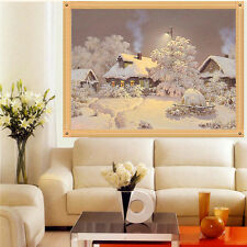 DIY 5D Diamond Snow House Painting Cross Stitch Kit Embroidery Home Decor Craft