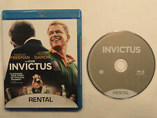 INVICTUS (2010 BLU RAY ) SINGLE DISC RENTAL VERSION MATT DAMON MORGAN FREEMAN