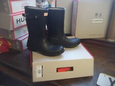 HUNTER WELLINGTONS IN HALIFAX & BRADFORD  SIZE 7 MATT  BLACK  SHORT LADIES