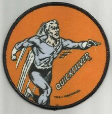 """1985 Marvel (Avengers) QUICKSILVER """"Cloth Patch"""" NEW 4"""""""