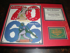 Mark McGwire & Sammy Sosa---1998 Home Run Plaque---Framed & Matted---11x14