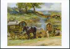 Gypsy Romany Reading Vardo Caravans at Appleby Horse Drawn Bow Top Wagon card