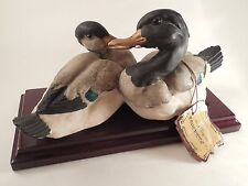 Giuseppe Armani Capodimonte Ducks by Florence Sculpture d'Art Italy w/ Tags