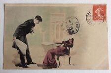 CPA. Illustrateur KOSA. Déclaration d'amour. Jeune Fille. 1909.