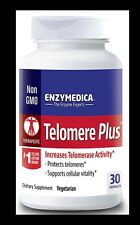 Enzymedica TELOMERE PLUS AntiAging TELOMERASE Support Cellular Vitality 30 caps