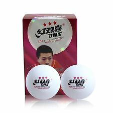 12x DHS Table Tennis Balls New Materials 3-Star 40+, White