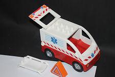 LEGO Duplo Krankenwagen  Auto MIT TRAGE UND WARNDREIECK Transporter 4979 A60