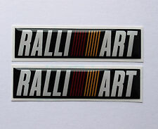 RALLIART stickers/decals 2 x 65mm x 15mm - HIGH GLOSS DOMED GEL FINISH