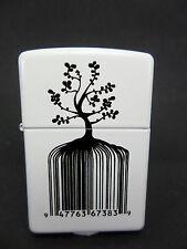 """Zippo - """"IDENTITY TREE CÓDIGO DE BARRAS"""" - white - nuevo y emb. orig. - # 907"""