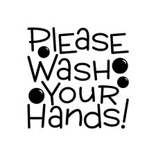 PLEASE WASH YOUR HANDS Wall Decal Quote Words Lettering Decor Bath Bathroom