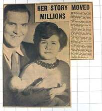 1953 Brave Five-year-old Janet Guthrie Held By Duncan Her Father Polio Research