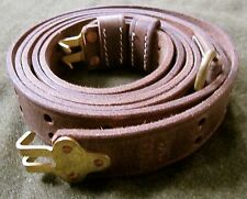 WWI WWII US ARMY INFANTRY M1907 M1903 M1 GARAND LEATHER RIFLE  SLING-OILED