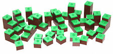 ORIGINAL lego MINECRAFT BROWN & LIGHT GREEN scenery elements 21113