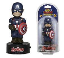 """NECA Solar Powered 6"""" Marvel Comics Avengers Captain America Body Knocker Figure"""