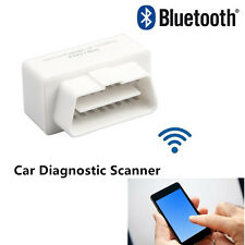 White OBDll Bluetooth OBD2 ELM327 MiNi Car Diagnostic Scanner Adapter Reader