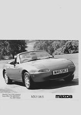 "MAZDA MX5 1.8iS ORIGINAL PRESS PHOTO "" BROCHURE  RELATED"""