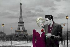 CHRIS CONSANI ~ PARIS SUNSET 24x36 ART POSTER Marilyn Monroe Elvis Presley