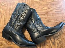 AUTHENTIC WOMENS NOCONA COWBOY LEATHER BLACK BOOTS SIZE 6 C. Made In The USA