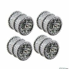 Bling Bling Diamond Ice Crystal Chrome Tire Valve Caps Fiat Mini Benz BMW Smart