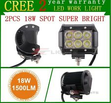 2PCS 4INCH 18W LED WORK LIGHT BAR SPOT DRIVING LIGHTS OFFROAD FOG 4WD BOAT UTE
