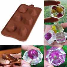 Wedding Diamond Gem Ice Cube Tray Chocolate Fondant Silicone Cake Mold Mould (51