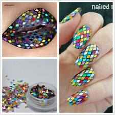 2mm Rhombus Paillette Nail Sequins Sparkling Colorful Glitter Nail Art Decor