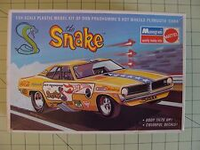 MONOGRAM THE SNAKE DON PRUDHOMME'S HOT WHEELS PLYMOUTH CUDA MODEL 1/24 SCALE