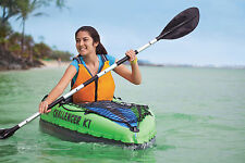 New Intex Inflatable Kayak Canoe 68307 Intex Challenger K1 River Lake Boat Oars