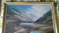 SCOTTISH HIGHLAND & LOCH LANDSCAPE OILPAINTING, PRUDENCE TURNER 1930-2007