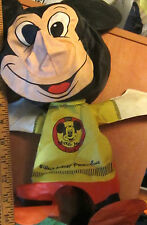 1960's MICKEY MOUSE CLUB Ideal Inflatable Squeak Doll Toy. Original Owner