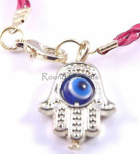 Hamsa Red Lether Bracelet Evil Eye Kabbalah Hand Of Fatima Gold Judaica Gift