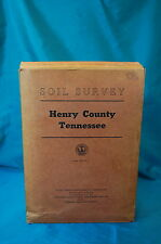 Henry County Tennessee Soil Survey 1958 Department of Agriculture