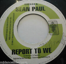 "SEAN PAUL - Report To We ~ 7"" Single"