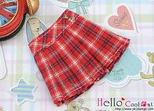 ☆╮Cool Cat╭☆35.【PE-04】Blythe/Pullip Accordion Mini Short Skirt # Stripe Red
