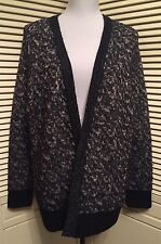 rag & bone Black Multi Wool Open Front Scarlett Cardigan Sweater Large NWT $395